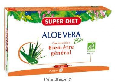 Aloe vera BIO - 20 ampoules x 15ml - LABORATOIRES SUPERDIET