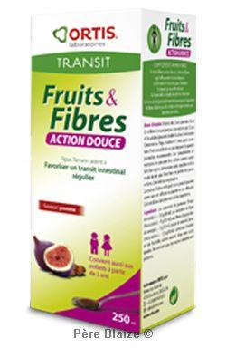 Fruits & fibres action douce sirop saveur pomme (enfants) - 250 ml - ORTIS
