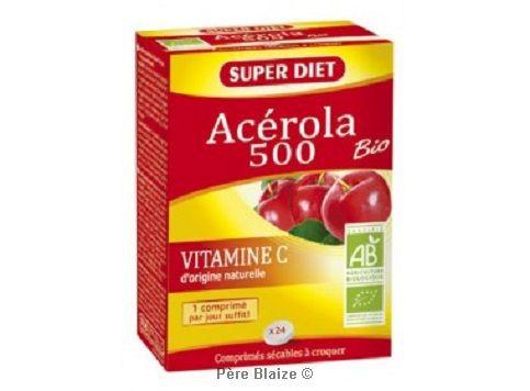 Acerola 500 bio 24 comprimés à croquer