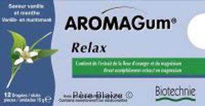 Aromagum relax vanille&menthe - 12 dragées - BIOTECHNIE