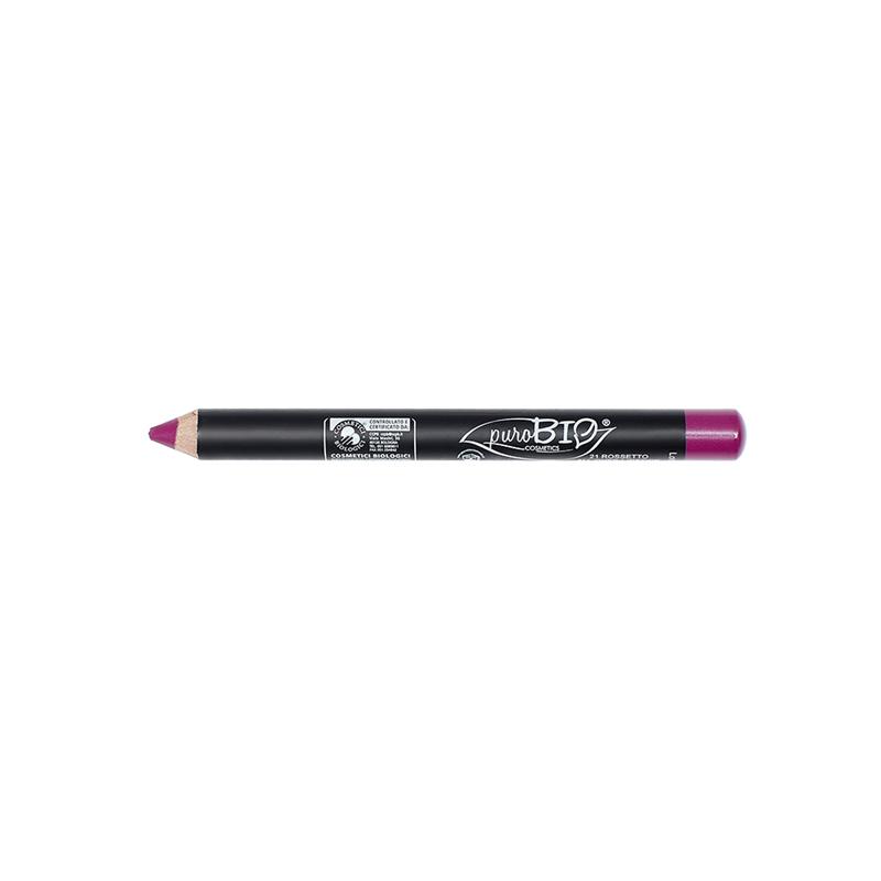 Crayon à Lèvres  21 - All over- épais (no vegan) Magenta - 2,3 g - PUROBIO COSMETICS