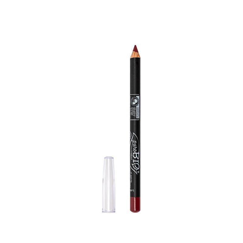 Crayon à Lèvres fin  47 - (no vegan) Rouge pur - 1,3 g - PUROBIO COSMETICS