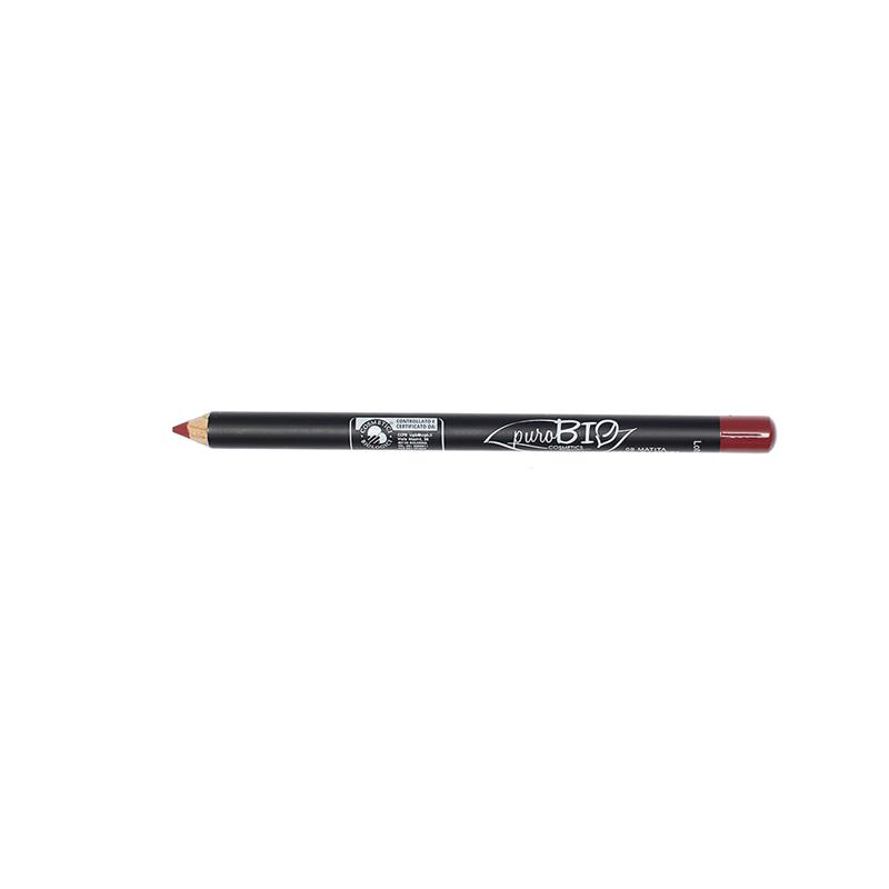 Crayon à Lèvres fin (no vegan) Rouge intense  09 - 1,3 g - PUROBIO COSMETICS