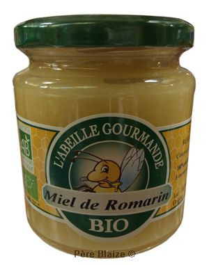 Miel BIO romarin - 400 g - L'ABEILLE GOURMANDE - AUGIER MIEL