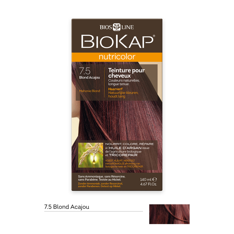 Nutricolor - Blond acajou 7.5 - 140 ml - BIOKAP