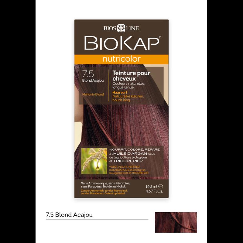 Nutricolor - Blond acajou 7.5 - 140 ml - BIOKAP