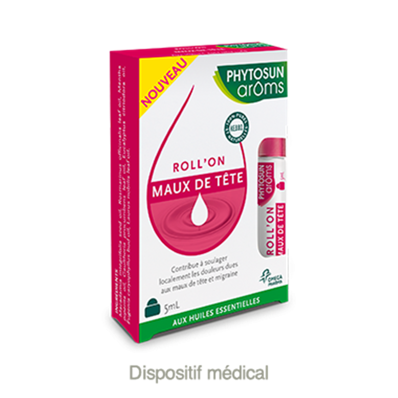 Roll'on maux de tête - 5 ml - PHYTOSUN AROMS