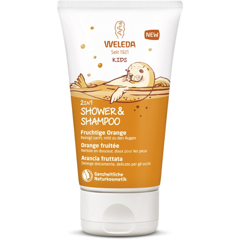 Shower & Shampoo kids orange fruitée - 150 ml - WELEDA