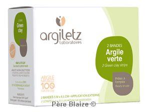 Bande argile verte (2 bandes 5mx8,5cm) - unitaire - ARGILETZ