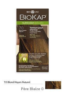 Delicato blond moyen naturel 7.0 - 140 ml - NUTRICOLOR DELICATO - BIOKAP
