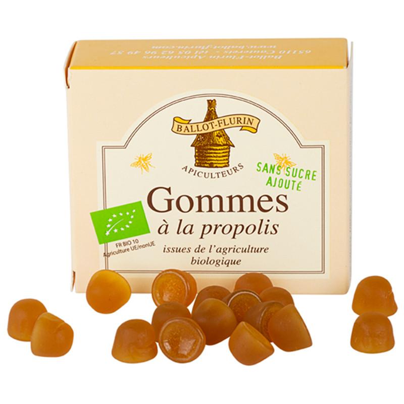 Gommes propolis sans sucre ajouté - boite - 40 g - BALLOT-FLURIN