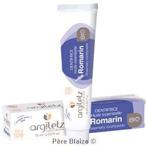 Dentifrice romarin - 75 ml - ARGILETZ