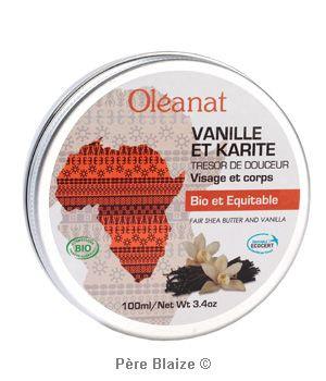 Beurre de karite vanille BIO et equitable - 100 ml - OLEANAT