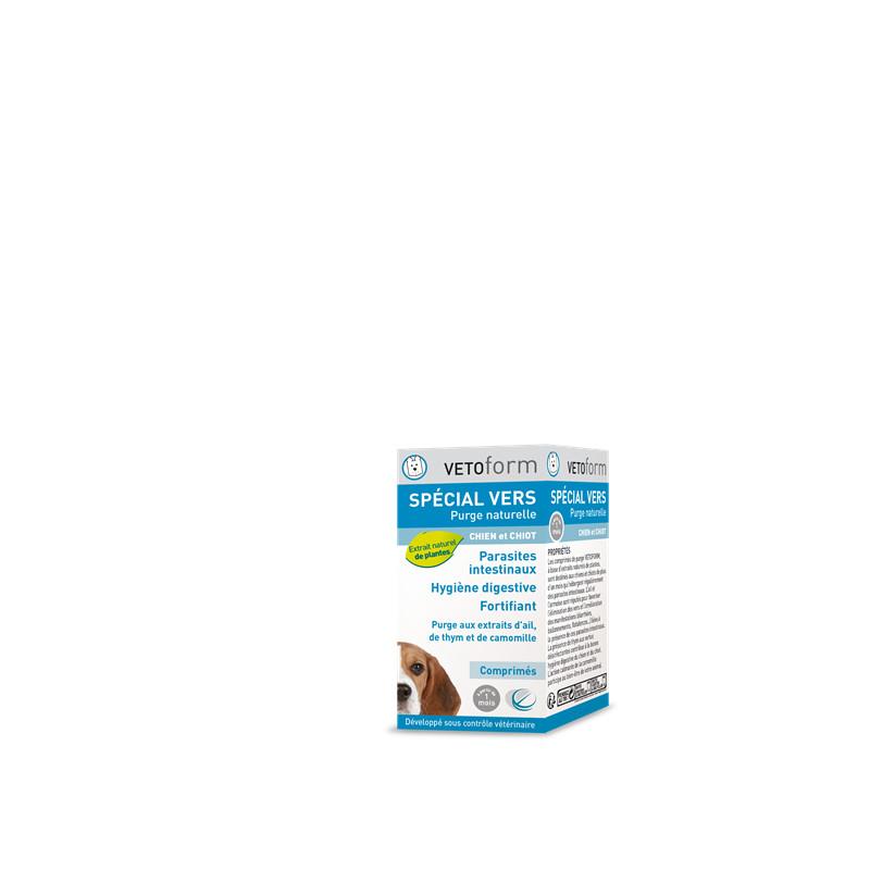 Purge narurelle spécial vers chiots / chiens - 50 comprimés - VETOFORM