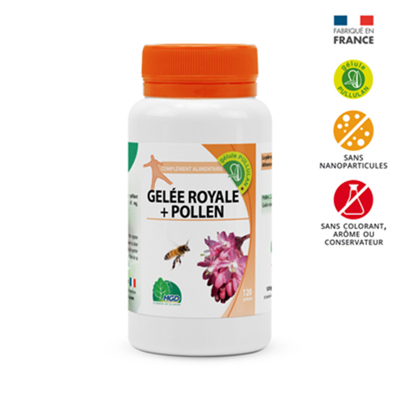 Gelée royale + pollen - 120 gel - MGD