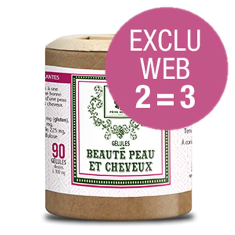 Exclu WEB Gélules Beauté peau et cheveux - 90 x 3 gél - Père Blaize