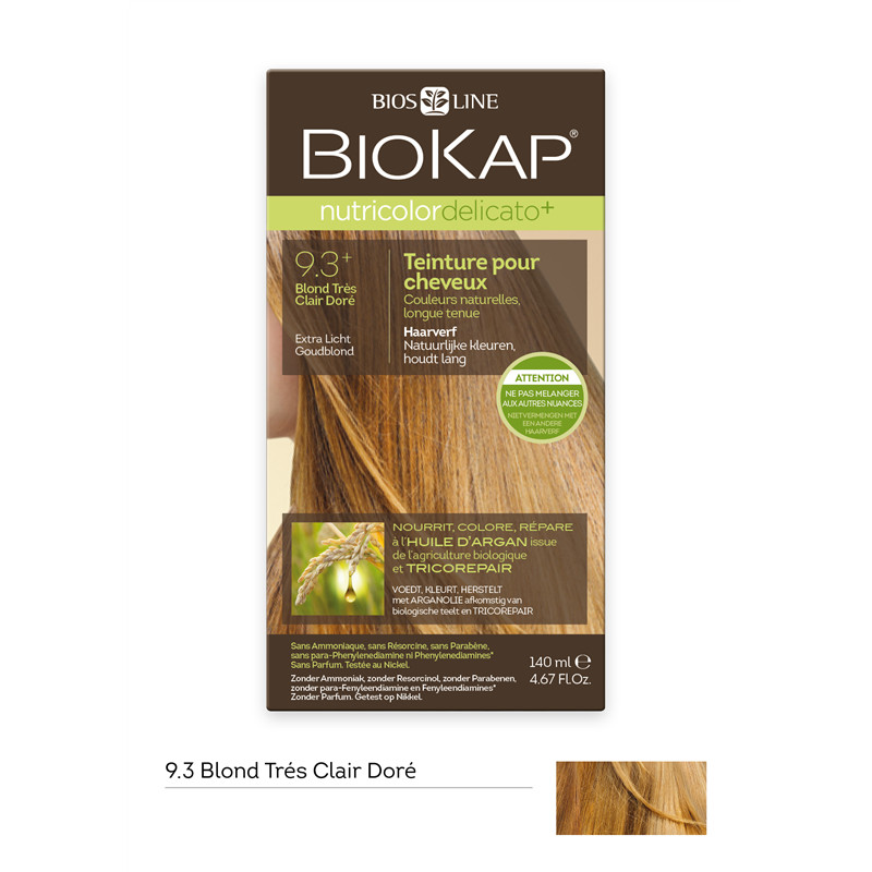 Nutricolor delicato + - blond tres clair dore 9.30 - 140 ml - BIOKAP