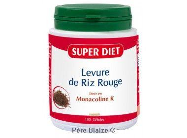 Levure de riz rouge BIO - 150 gél - LABORATOIRES SUPERDIET