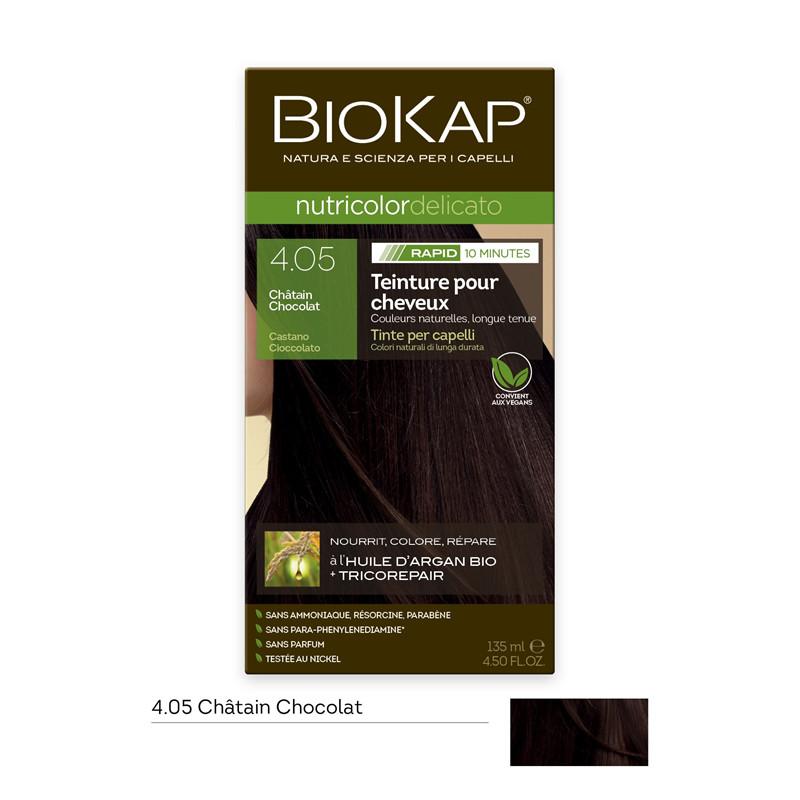 Nutricolor delicato rapid - 4.05 châtain chocolat - 135 ml - BIOKAP