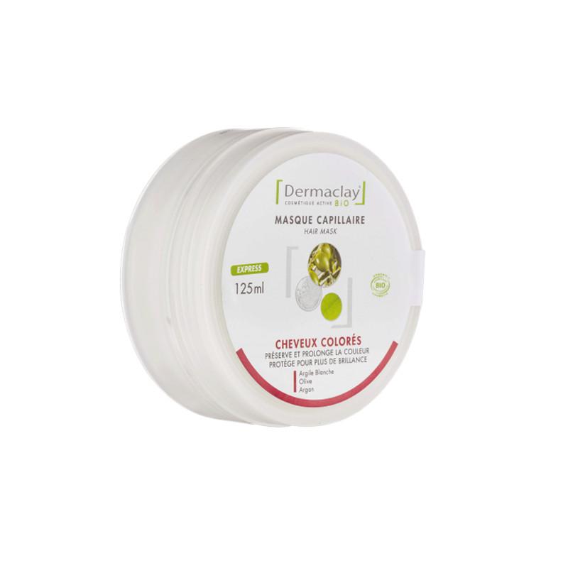 Masque capillaire cheveux colorés - 125 ml - DERMACLAY