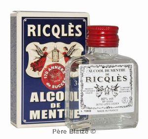 Alcool de menthe - flacon de poche - 3 cl - RICQLES