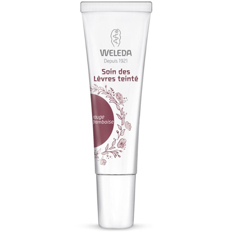 Soin des lèvres teinte rouge framboise - 10 ml - WELEDA