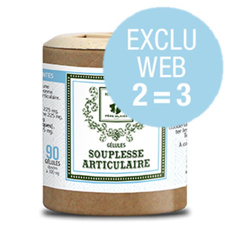 Exclu WEB Gélules Souplesse articulaire - 3 x 90 gél - Père Blaize