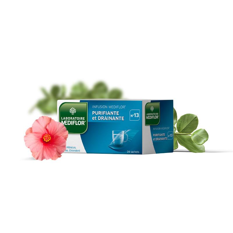 Tisane Mediflor N°13 - Purifiante et Drainante - 24 sachets - LABORATOIRE MEDIFLOR