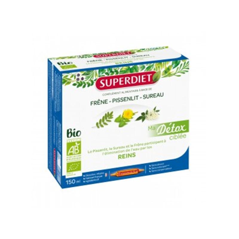 Ma Détox Ciblée Pissenlit Reins Bio - 10 ampoules x 15 ml - LABORATOIRES SUPERDIET