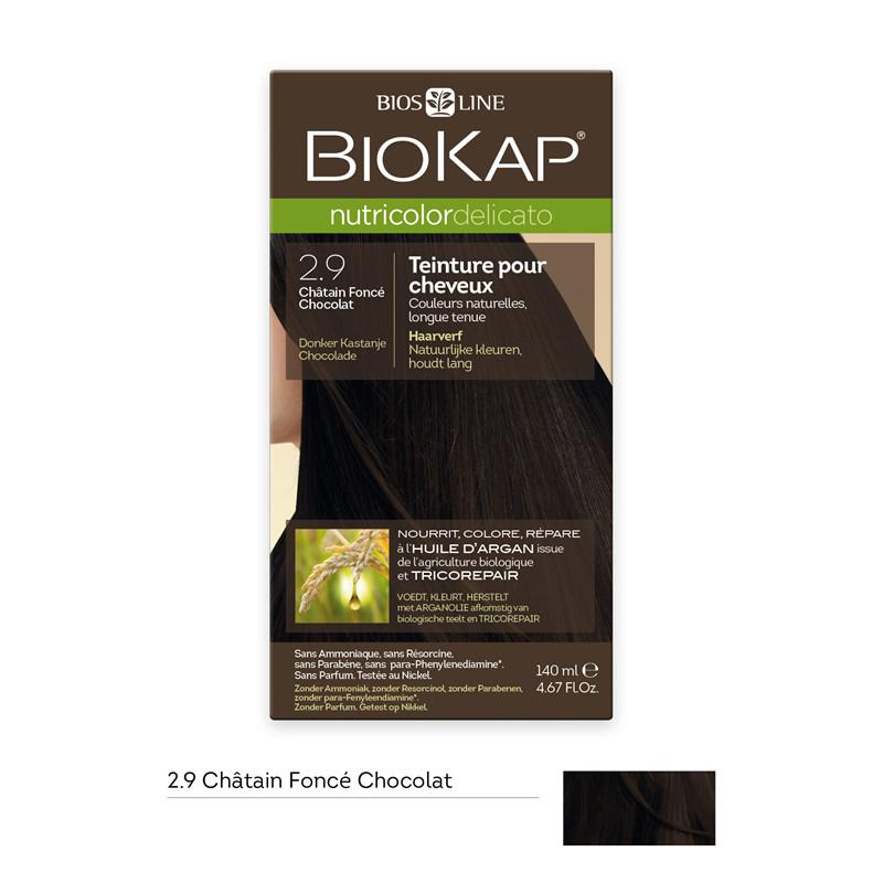 Nutricolor delicato - châtain foncé chocolat 2.9 - 140 ml - BIOKAP