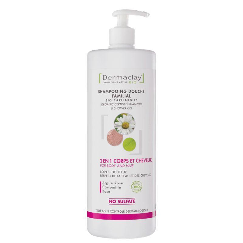 Shampooing douche 2 en 1 - usage régulier - 1 L - DERMACLAY