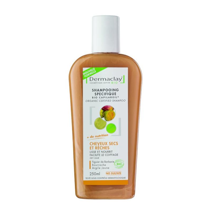 Shampooing BIO cheveux secs - argile jaune - 400 ml - DERMACLAY
