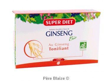 Ginseng BIO - 20 ampoules x 15 ml - LABORATOIRES SUPERDIET
