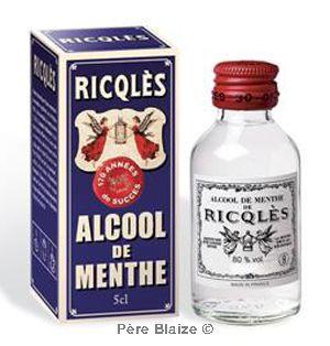 Alcool de menthe - flacon rond - 5 cl - RICQLES