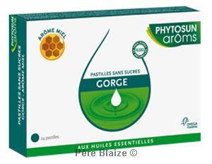 Pastilles gorge sans sucre arôme miel - boîte de 24 pastilles - PHYTOSUN AROMS