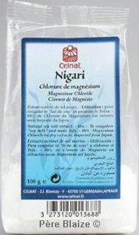 Nigari (chlorure de magnésium) - 100 g - CELNAT