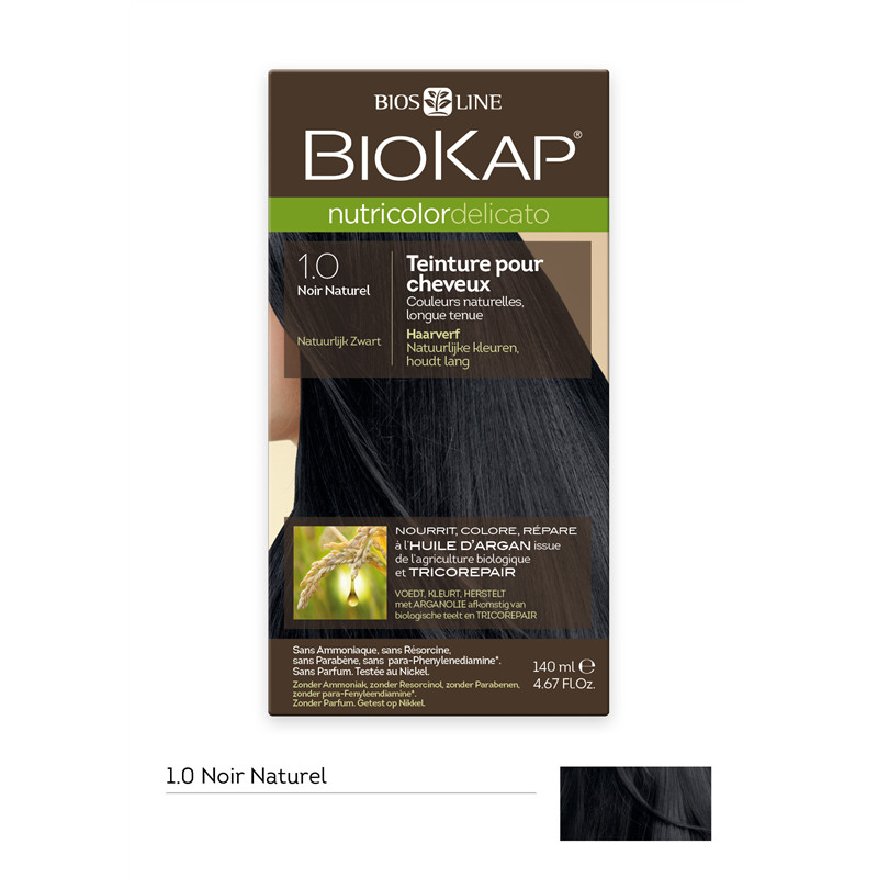 Delicato noir naturel 1.0 - 140 ml - NUTRICOLOR DELICATO - BIOKAP
