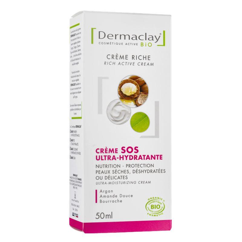 Creme sos ultra hydratante visage - 50 ml - DERMACLAY