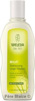Shampooing usage fréquent au millet - 190 ml - WELEDA