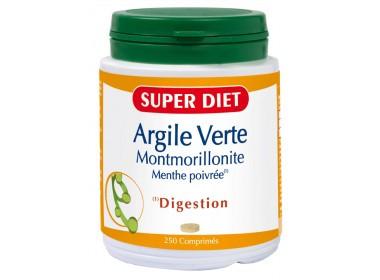 Argile verte montmorillonite - menthe poivree - 250 comprimés - LABORATOIRES SUPERDIET