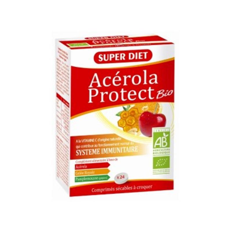 Acerola protect BIO - 24 comprimés à croquer - LABORATOIRES SUPERDIET