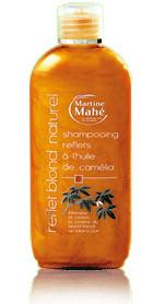 Shampooing reflets huile camélia - blond naturel - 200 ml - MARTINE MAHE