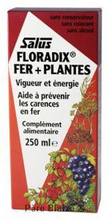 Floradix fer + plantes - 250 ml - SALUS