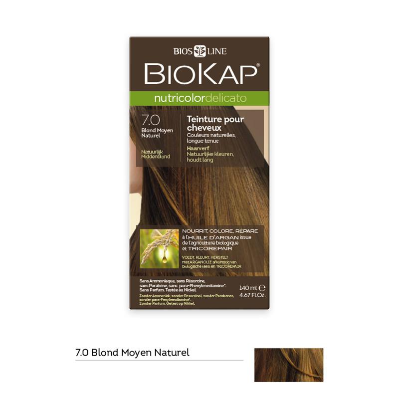 Nutricolor delicato - blond moyen naturel 7.0 - 140 ml - BIOKAP