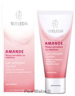 Lait nettoyant confort amande - 75 ml - WELEDA