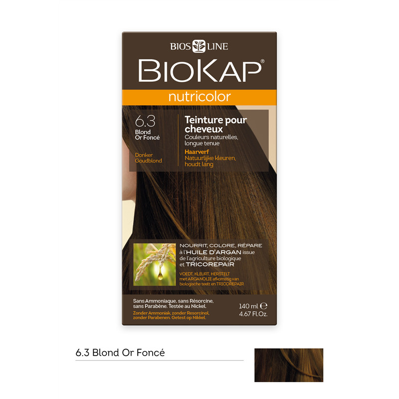 Nutricolor - Blond or foncé 6.3 - 140 ml - BIOKAP