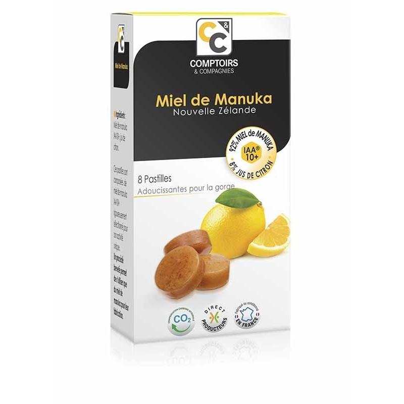 Pastilles 92% miel de manuka IAA10+ et 8% jus citron - 20 g - COMPTOIRS&COMPAGNIES