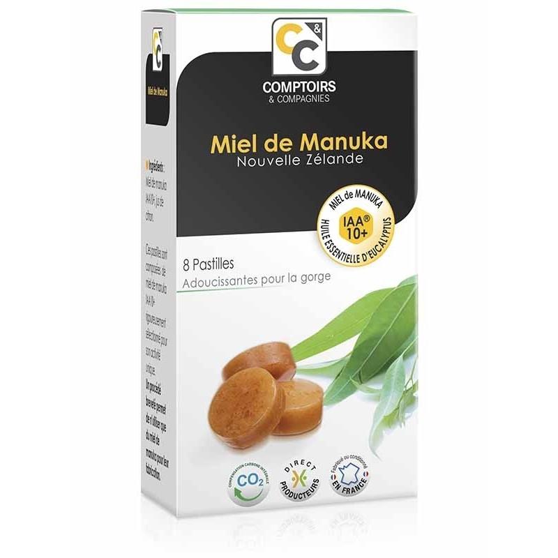 Pastilles miel de manuka IAA10+ eucalyptus - 20 g - COMPTOIRS&COMPAGNIES