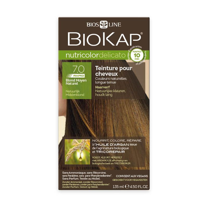 Delicato rapid 7.0 blond moyen naturel - 135 ml - NUTRICOLOR DELICATO RAPID - BIOKAP