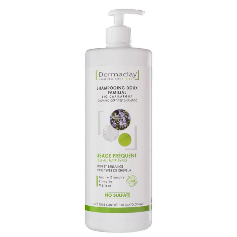 Shampooing tous types de cheveux - 1 L - DERMACLAY